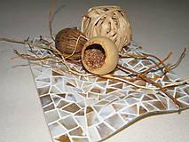 Dekorácie - Tanier_perleťová mozaika - 4529941_