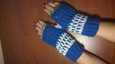 Rukavice - Modrý mix - návleky - 4529118_