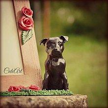 Rámiky - Rám na fotografiu s figúrkou psa podľa fotografie - 4532747_