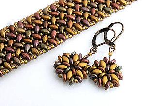 Sady šperkov - Vo farbách jesenného lístia - sada - 4528923_