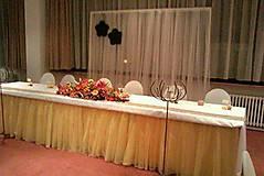 Svadba - svadobná tutu sukňa na hlavný stôl  - 4530617_