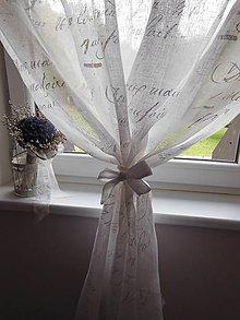 Úžitkový textil - Ľanová záclonka Poeme - 4530295_