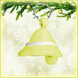 Dekorácie - Vianočný zvonček - žltý - 4528667_