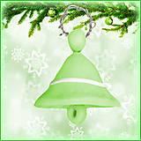 Dekorácie - Vianočný zvonček - zelený - 4529101_