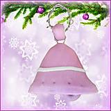 Dekorácie - Vianočný zvonček - fialový - 4531315_