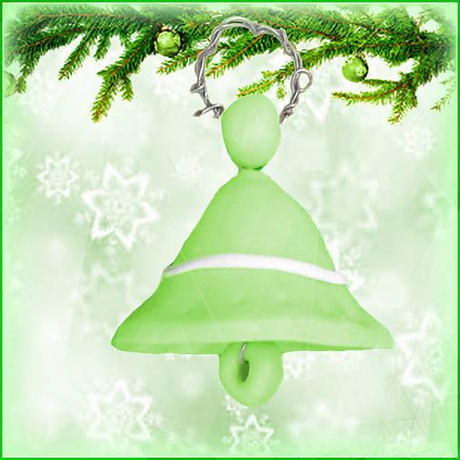 Vianočný zvonček - zelený