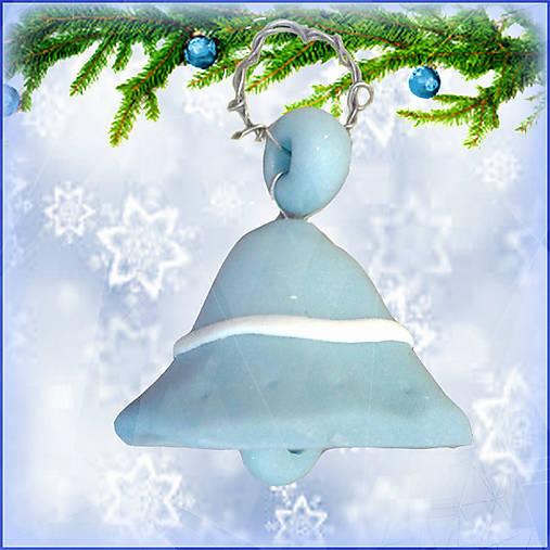 Vianočný zvonček - modrý