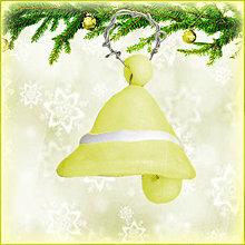 Dekorácie - Vianočné zvončeky - výpredaj (žltý) - 4528667_