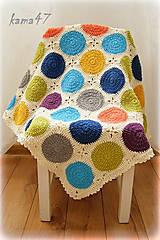 Úžitkový textil - Deka - kruhy