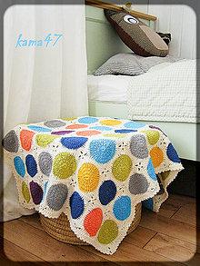 """Textil - Detská deka - kruhy """"Monika"""" - 4536296_"""