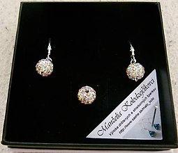 Sady šperkov - Biela shambala sada - 4535656_