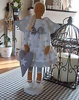 Bábiky - Vianočný anjel so srdiečkom - 4537595_