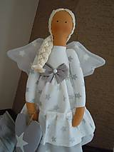 Bábiky - Vianočný anjel so srdiečkom - 4537596_