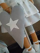 Bábiky - Vianočný anjel so srdiečkom - 4537597_