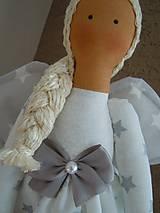 Bábiky - Vianočný anjel so srdiečkom - 4537599_