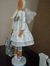 Bábiky - Vianočný anjel so srdiečkom - 4537600_
