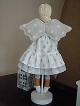 Bábiky - Vianočný anjel so srdiečkom - 4537601_