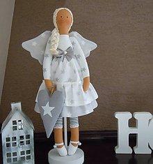 Bábiky - Vianočný anjel so srdiečkom - 4537594_
