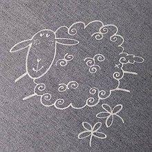 Úžitkový textil - KUDRNKA - napron 70x70 cm - 4537609_