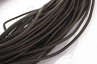 Galantéria - NAV760, ŠNÚRKA 2.5mm pružná ŠedoHNEDÁ /1m - 4534607_