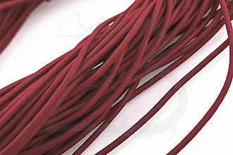 Galantéria - NAV760, ŠNÚRKA 2.5mm pružná VÍNO /1m - 4534636_