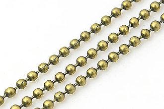 Komponenty - RET5182, RETIAZKA guľka 1.5mm BRONZ /1m - 4534643_