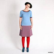 Sukne - pletená sukně nad kolena -MÍNA - áčková - 4533737_