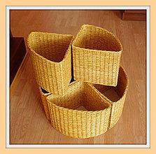 Košíky - Prírodný košík rohový - 4534596_