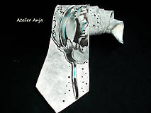 Doplnky - Hodvábna kravata Exotická kvetina - 4535568_