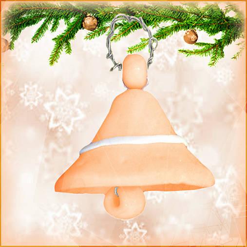 Vianočný zvonček - oranžový