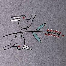 Úžitkový textil - JARABÁCI PTÁCI - napron 70x70 cm - 4537613_