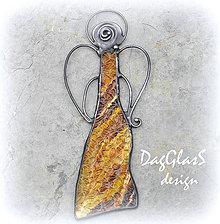Dekorácie - Anjel...dekorácia na stenu - 4539375_