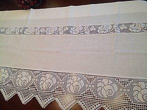 Úžitkový textil - Záves-záclonka s čipkou - Vintage - - 4543862_