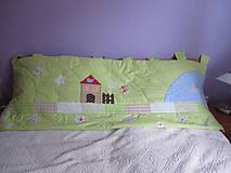 Úžitkový textil - krajinka fantázie zástena za posteľ - 4545473_