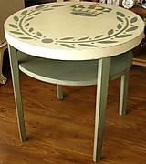 Nábytok - Stolík s korunkou :) predaný - 4543285_