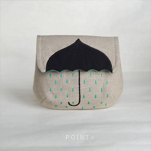 Kapsička Nemusí pršet, jen když kape (béžová, tyrkysová)