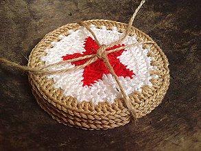 Úžitkový textil - hviezdičkové podšálky - 4543565_