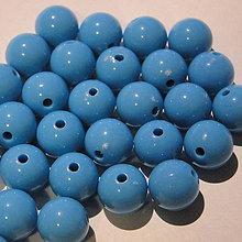 Korálky - COLOR plast 10mm-10ks (tyrk.modrá) - 4550103_