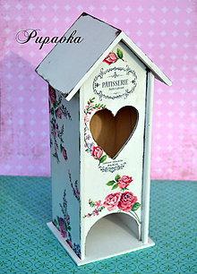 Krabičky - Domček na čajové vrecúška roses - 4549234_