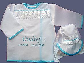 Detské oblečenie - Košieľka na krst s čepčekom - 4550754_