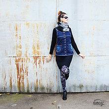 Iné oblečenie - šatová riflová vesta propínací s elastanem - 36,40 - 4552329_