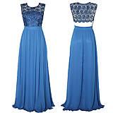 Šaty - Spoločenské šaty z hrubej krajky holý chrbátik - 4550442_