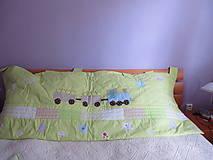 Úžitkový textil - zástena krajinka s vláčikom - 4552895_