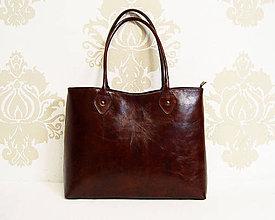 Kabelky - Kožená kabelka Klementínka