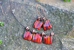 Sady šperkov - souprava kostky..červená - 4553306_