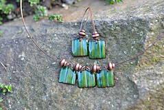 Sady šperkov - souprava kostky...zelená - 4553315_