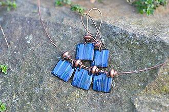 Sady šperkov - souprava kostky..modrá - 4553311_