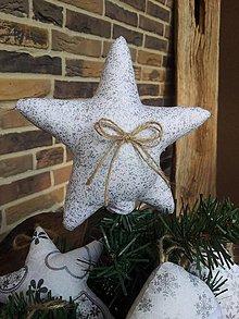 Dekorácie - Vianočná hviezda na stromček - 4552209_