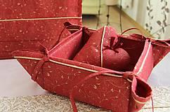 košík na pečivo - vianočný motív