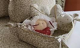 Košíky - košík na pečivo - vianočný motív - 4557899_